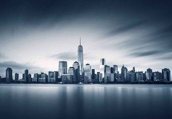 Blue Manhattan Steklena slika