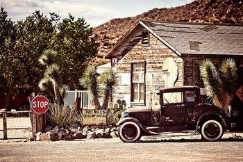 Cars - Old car Steklena slika