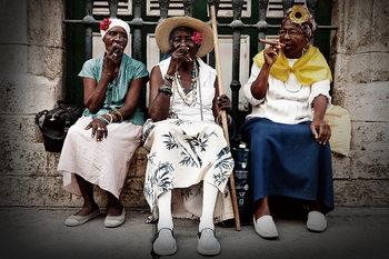 People in the Street Steklena slika