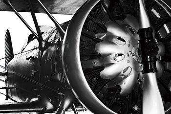 Plane - Engine Steklena slika
