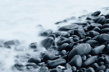 Rocky Shore Steklena slika