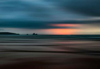 The Painted Beach Steklena slika