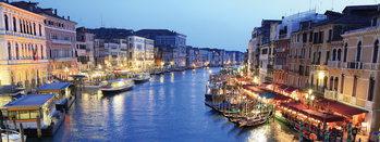 Venice - Venice at Night Steklena slika