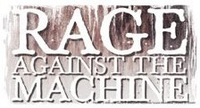 RAGE AGAINST THE MACHINE - logo sticker