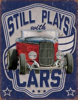 Still Plays With Cars Metalen Wandplaat