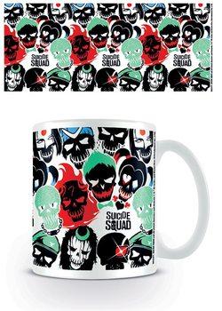 Bögre Suicide Squad - Öngyilkos osztag  - Skulls Mono