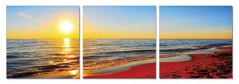 Sunset on the beach Modern tavla