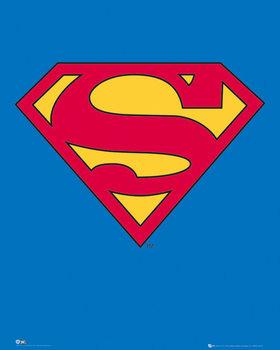 SUPERMAN - classic logo - плакат (poster)