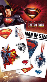 Tatuaje SUPERMAN MAN OF STEEL - steel