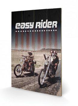 Szelíd motorosok (Easy Rider) - Riders plakát fatáblán