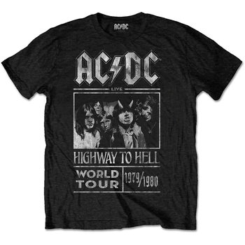 T-shirt  AC/DC -  Highway To Hell World Tour 1979/80