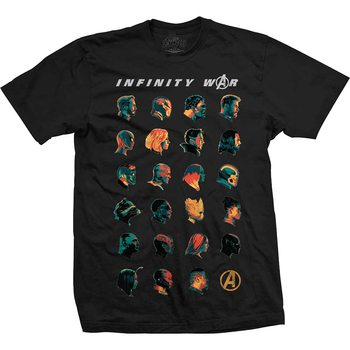 T-shirt Avengers - Infinity War Head Profiles