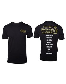 T-shirt  Star Wars - Main Characters List