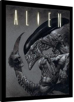 Poster encadré Aliens - Head on Tail