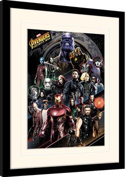 Poster encadré Avengers Infinity War - Character Coloured Bands
