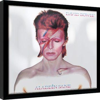 Poster encadré David Bowie - Aladdin Sane