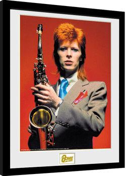 Poster encadré David Bowie - Saxophone