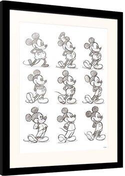 Poster encadré Disney - Mickey Mouse - Sketch