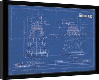 Poster encadré Doctor Who - Dalek Blueprint
