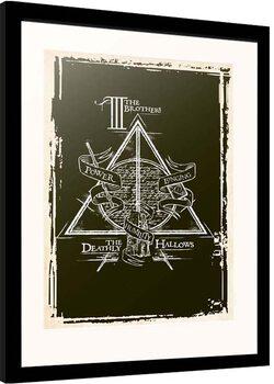 Poster encadré Harry Potter - Deathly Hallows Symbol