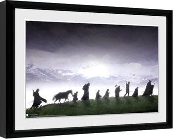 Poster encadré Le Seigneur des anneaux - Fellowship