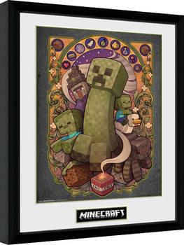 Poster encadré Minecraft - Creeper Nouveau