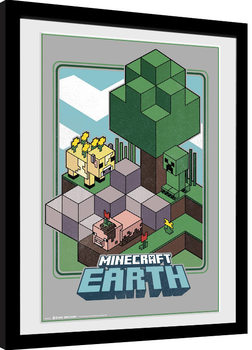 Poster encadré Minecraft - Vintage