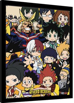 Poster encadré My Hero Academia - Chibi Characters