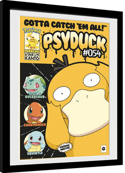 Poster encadré Pokemon - Psyduck Comic