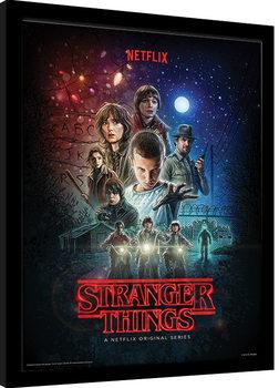 Poster encadré Stranger Things - One Sheet