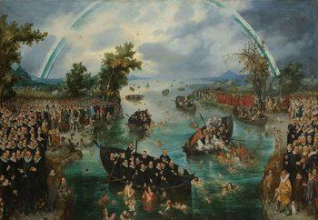 Tableau sur verre Fishing For Souls, Van De Venne