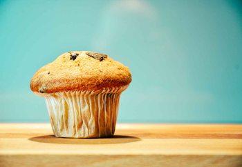 Tableau sur verre Muffin