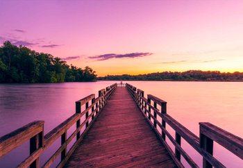 Tableau sur verre Purple Pier