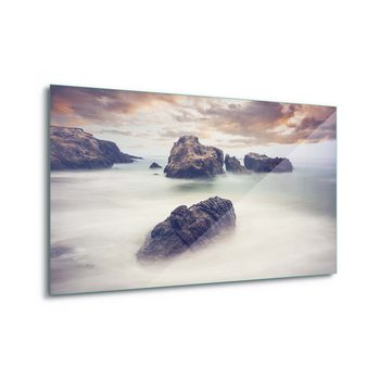 Tableau sur verre Waves And Rocks