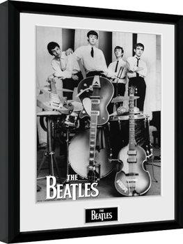 Poster encadré The Beatles - Instruments