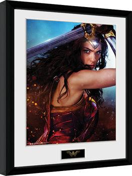 Poster encadré Wonder Woman - Defend