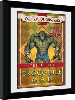 Batman Comic - Circus Crocodile Poster encadré
