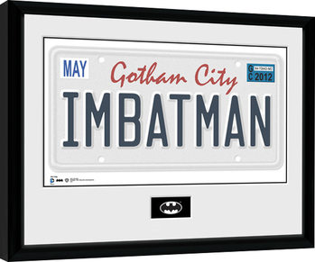 Batman Comic - License Plate Poster encadré