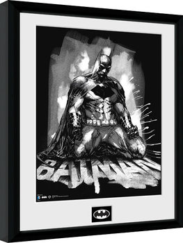 Batman Comic - Paint Poster encadré