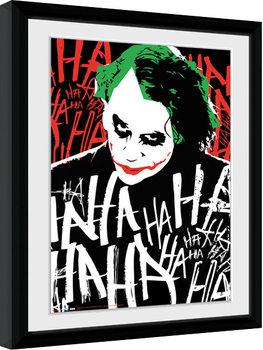 Batman The Dark Knight: Le Chevalier noir - Joker Ha Poster encadré