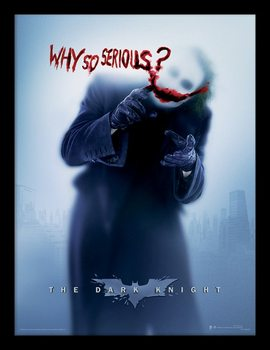 Batman The Dark Knight: Le Chevalier noir - Why So Serious? Poster encadré
