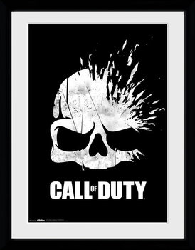Call Of Duty - Logo Skull Poster encadré