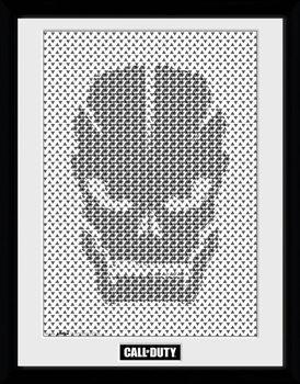 Call Of Duty - Skull Pattern Poster encadré