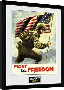 Call of Duty WWII - Fight For Freedom Poster encadré