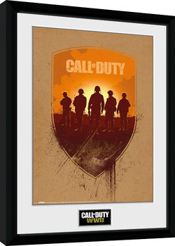 Call of Duty WWII - Shield Poster encadré