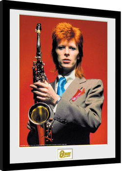 David Bowie - Saxophone Poster encadré