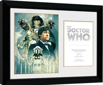 Doctor Who - 2nd Doctor Patrick Troughton Poster encadré