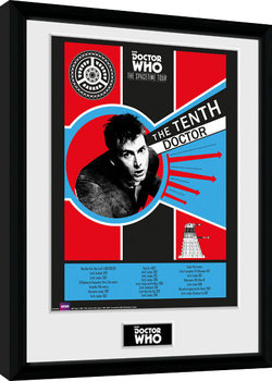 Doctor Who - Spacetime Tour 10th Doctor Poster encadré