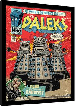 Doctor Who - The Daleks Comic Poster encadré