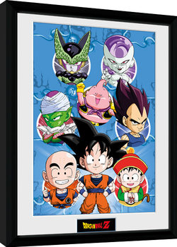Dragon Ball Z - Chibi Heroes Poster encadré